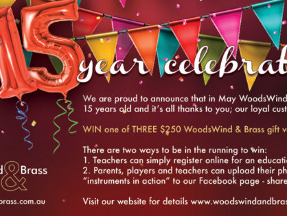 WoodsWind and Brass turns 15 - celebrate with us!